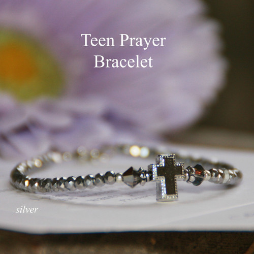 TN-5  Teen Prayer Bracelet-Silver