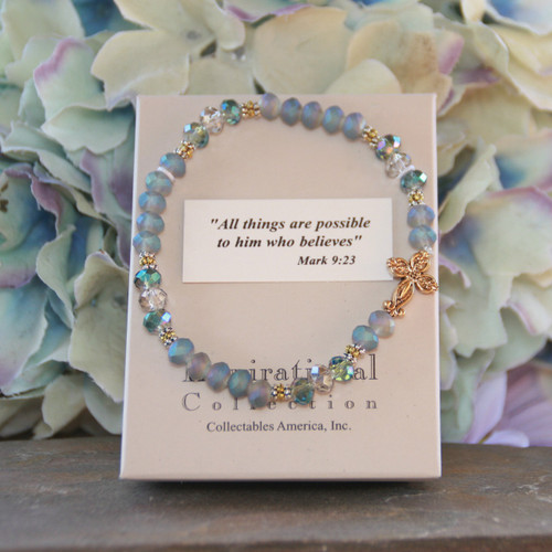 IN-213  Matt finish Crystals Classic Bracelet All Things are Possible