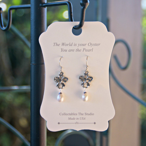 FER-407  The World is your Oyster You are the Pearl Earrings