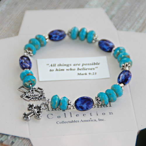 IN-715  Big and Bold colors All things are possible Bracelet