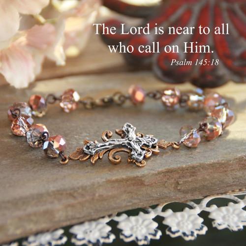 IN-719  One of my Favorite Crucifix beaded Bracelets