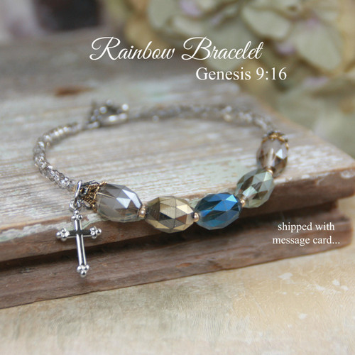 IN-713  Stunning Rainbow Bracelet with Beautiful Crystals