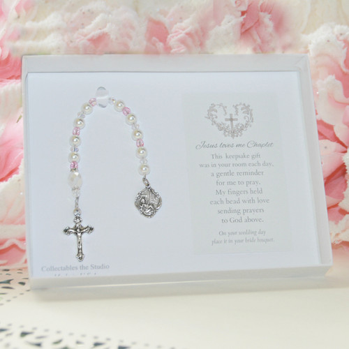 CJ-198  Jesus Loves Me Chaplet for Baby Girl