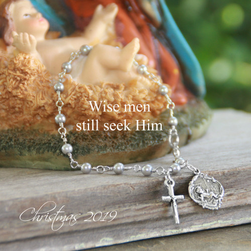 IN-725  Wise Men Still Seek Him Christmas Bracelet