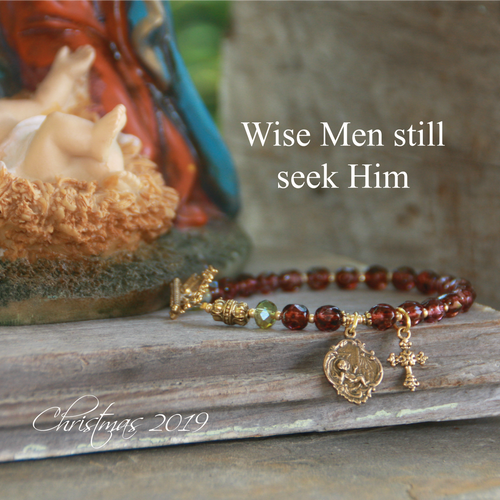 IN-726  Wise Men Still Seek Him Christmas Bracelet