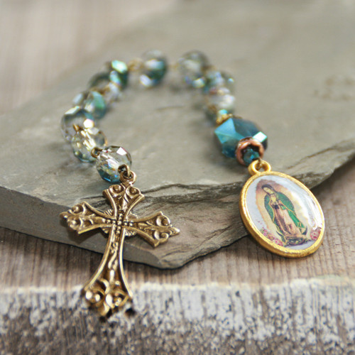 IN-812  Catholic Chaplet Guadalupe