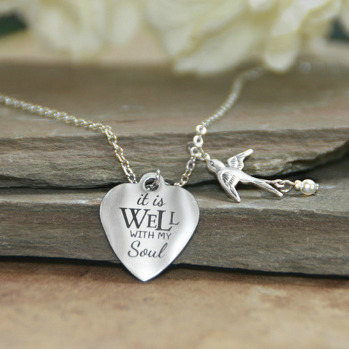 IN-619  It is Well with My Soul Necklace