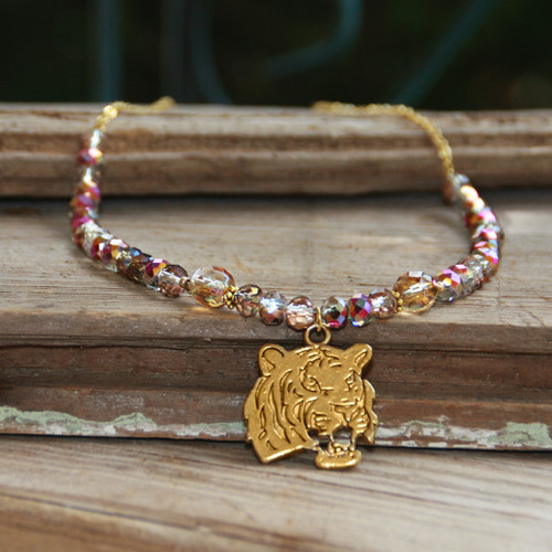 TG-42  Tiger Necklace with AB crystals