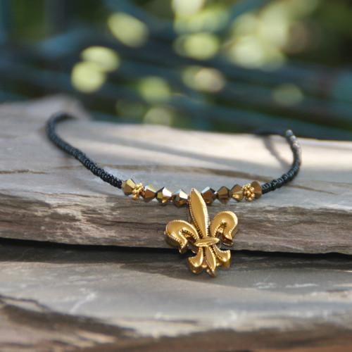 NOST-5  Classic New Orleans Saints Necklace