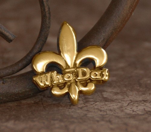 NOST-16  Who Dat Small Lapel Pin