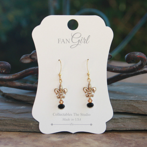 NOST-13  Black and Gold Earrings