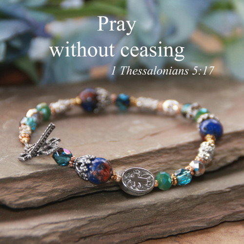 IN-744  Pray without ceasing Bracelet