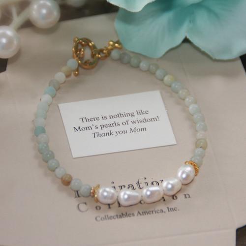 IN-745M  Mom's Pearls of Wisdom Bracelet