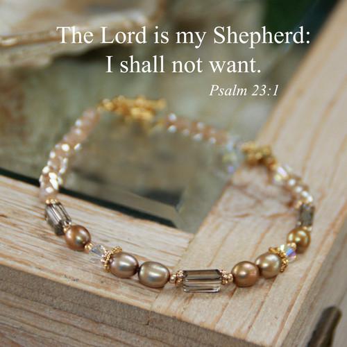 IN-746  The Lord is my Shepherd bracelet