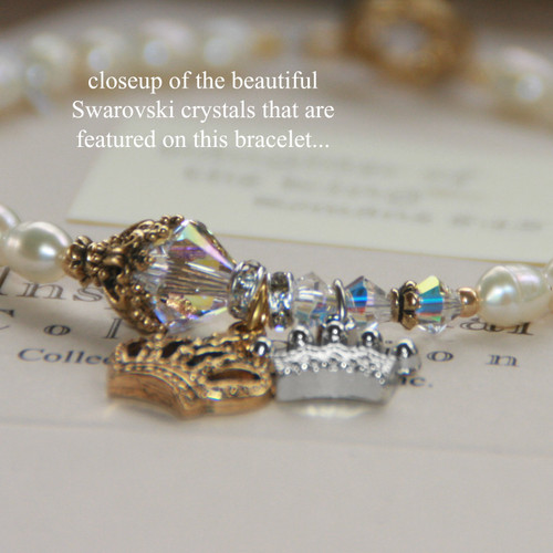 IN-747 Daughter of the King Freswater Pearl (favorite) Bracelet