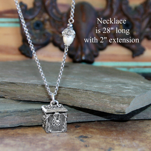 IS-816  Prayer Box Necklace Classic Long Style