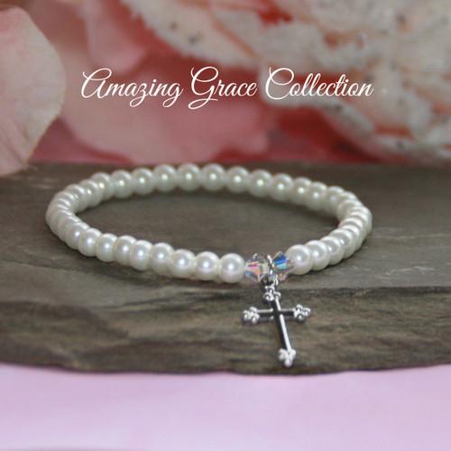 GG-48  Amazing Grace Classic Cross Bracelet