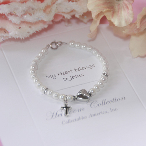 "CJ-194-5  My Heart Belongs to Jesus 5"" Bracelet"