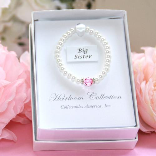 "CJ-186  Big Sis Chunky Pearl Bracelet 5"""