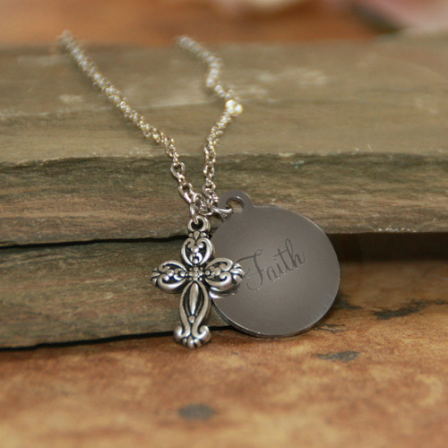 IN-612 For we walk by Faith Necklace