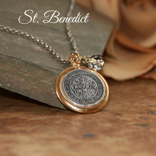 IN-647  Large St. Benedict Necklace