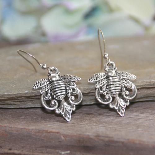 IS-806E  Bumble Bee Earrings