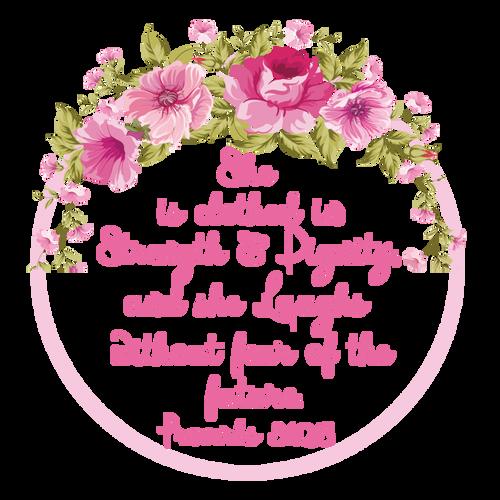 00-92  Proverbs 31:25   6-12 months Onesie