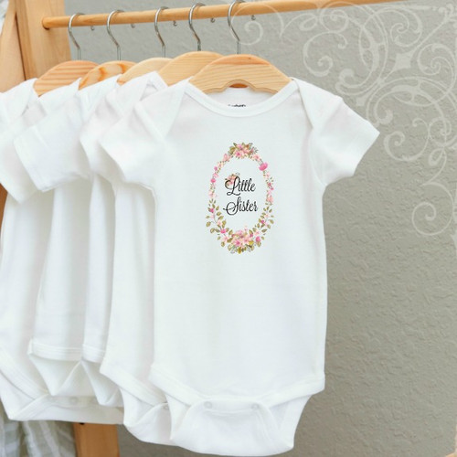 00-17  Little Sister Onesie 3-6 Months (no crystals)
