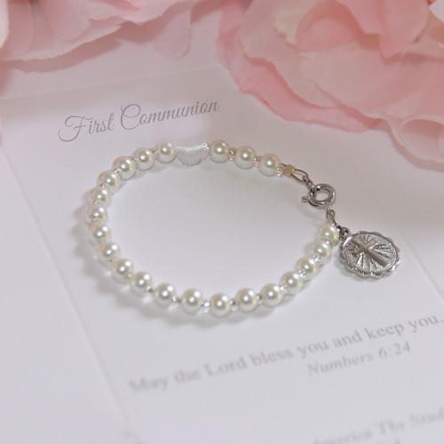 "CJ-144FC  First Communion 6"" Bracelet"