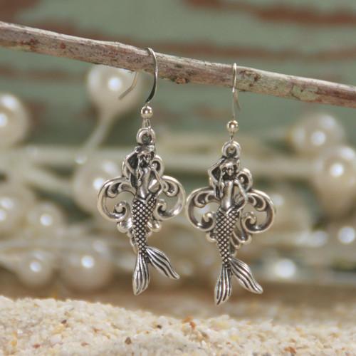 OC-16  Mermaids and Scrolls Earrings