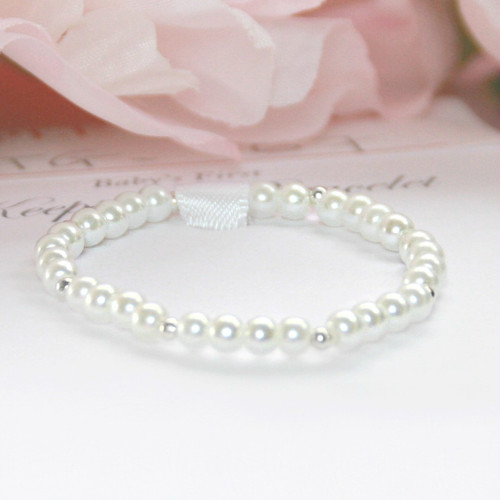 STG-167  Pearls and Sterling Infant Bracelet