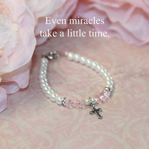 "CJ-164  Even Miracles take a little Time  5"" Bracelet"