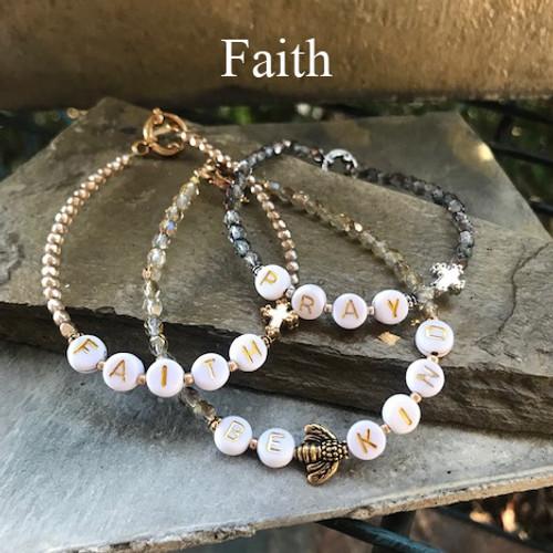 """IN-755 """"Faith"""" Beaded Trending 2021 Bracelet"""