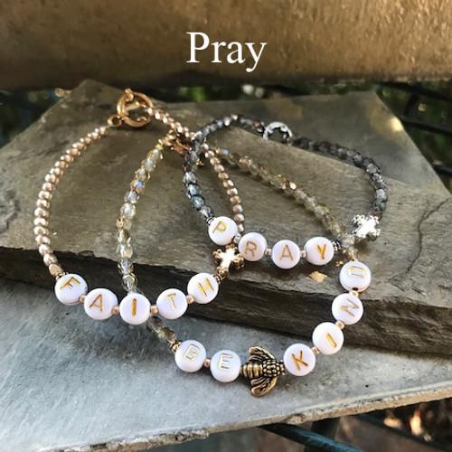 """IN-754 """"PRAY"""" Beaded Trending 2021 Bracelet"""