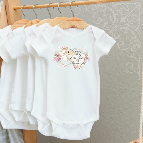 00-49CR  Always Kiss Me Goodnight  3-6 Months Onesie (with crystals)
