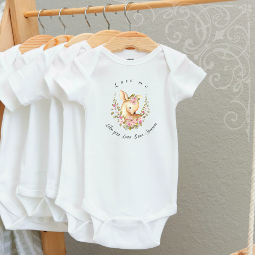 00-57  Love Me like Deer Season  3-6 Months Onesie (no crystals)