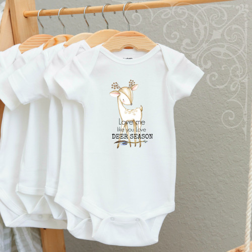 00-59  Love Me like Deer Season Boy 3-6 Months Onesie