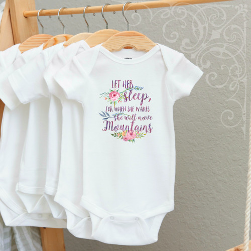 00-23  Let Her sleep 3-6 Months Onesie (no crystals)