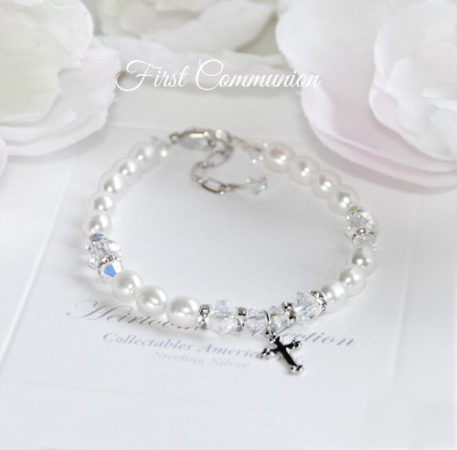 CJ-468  The Perfect First Communion Bracelet
