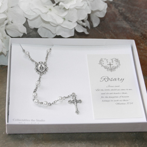 CJ-381  Traditional Keepsake Rosary