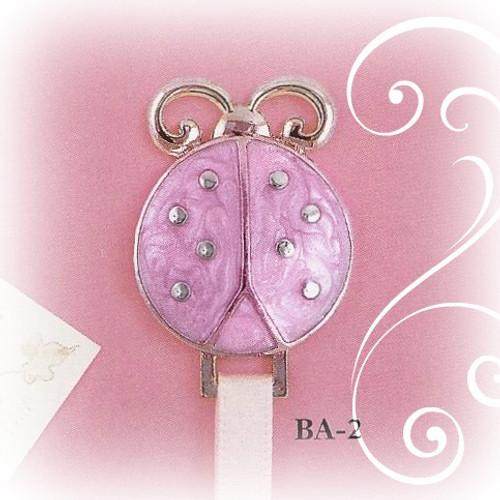 BA-2 Pink Ladybug Paci Holder