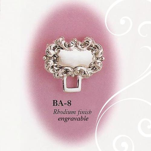 BA-8 Engravable Fancy Paci Holder