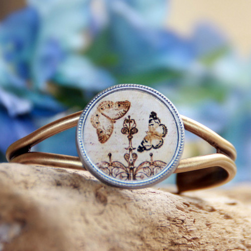 ART-123 Butterfly Vintage Style Cuff Bracelet