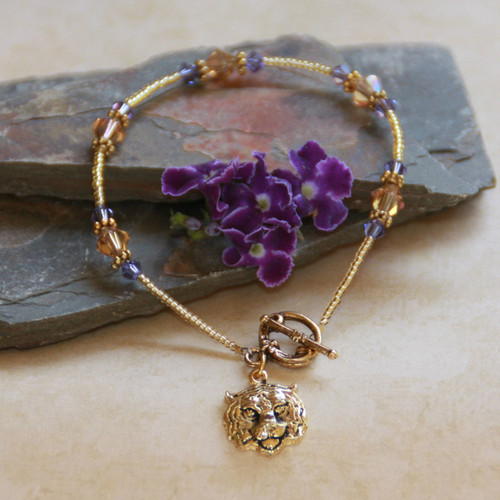 TG-2 Tiger Gold & Swarovski Crystals Bracelet