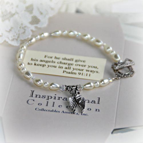 IN-119 Angel Wings Message Bracelet