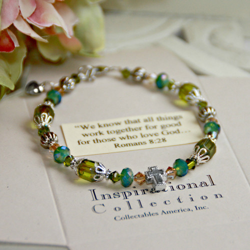 IN-129 Peridot ...We know that all things work together...Bracelet