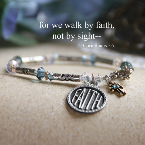 IN-163  Faith Bracelet...for we walk by faith, not by sight---