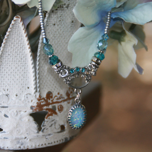 IS-181 Oh so pretty Opal Necklace