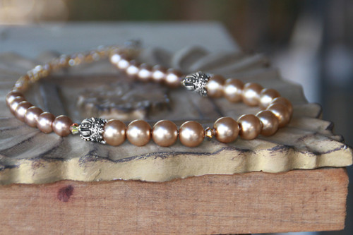 """IS-184  Timeless Pearls with """"Crown"""" Accents"""