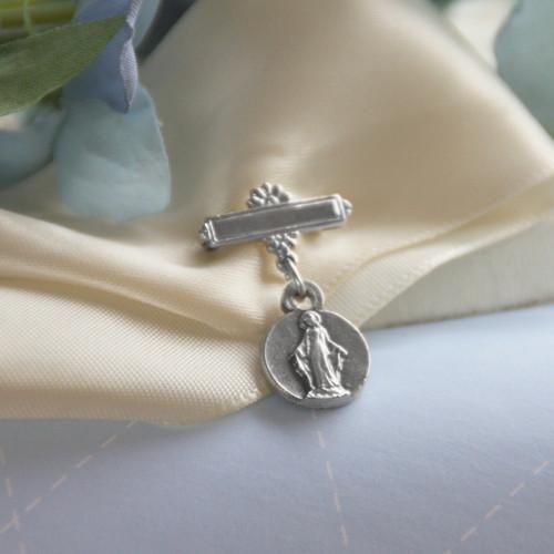 CJ-473  Mary Medal Baby Barpin